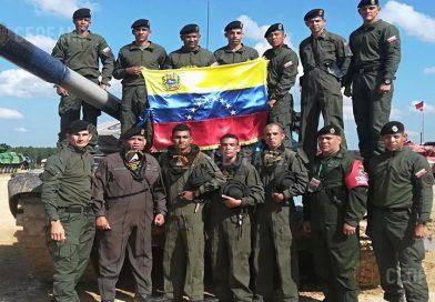 Venezuela logra el 1er lugar en la primera fase de la Competencia de Biatlón de Tanques